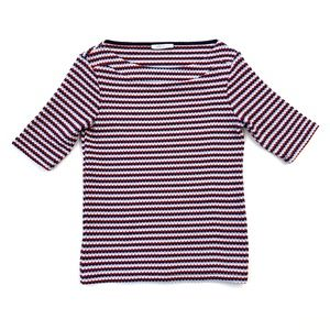Zara Trafaluc Red, White, & Blue Geometric Top